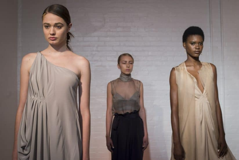 Models dressed in pieces from the Jasmine Chong NYFW collection.