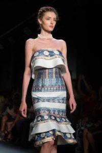 A model walking the runway during John Paul Ataker's New York Fashion Week collection