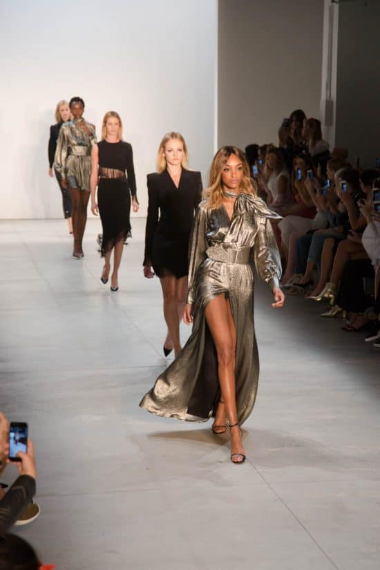 Jourdan Dunn leads the models on the MISHA collection runway show! Photo by juleimages.com