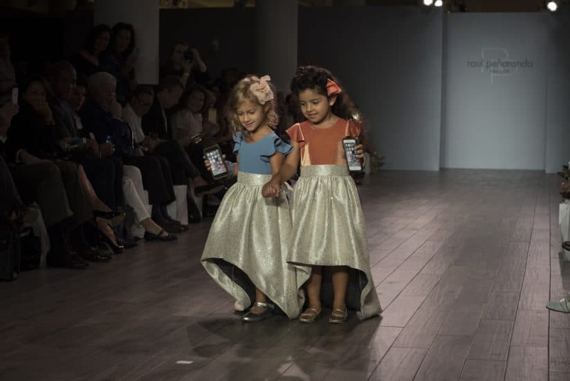 Playful, Cuban-inspired children's looks from the Raul Penaranda NYFW collection.
