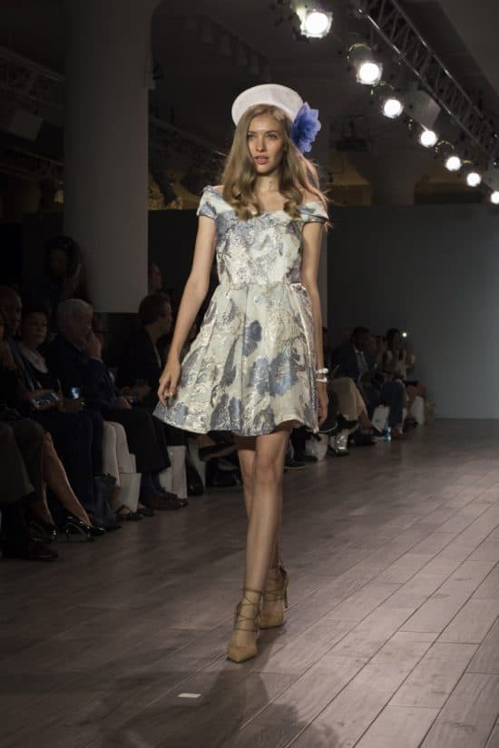 A playful, Cuban-inspired look from the Raul Penaranda NYFW collection.