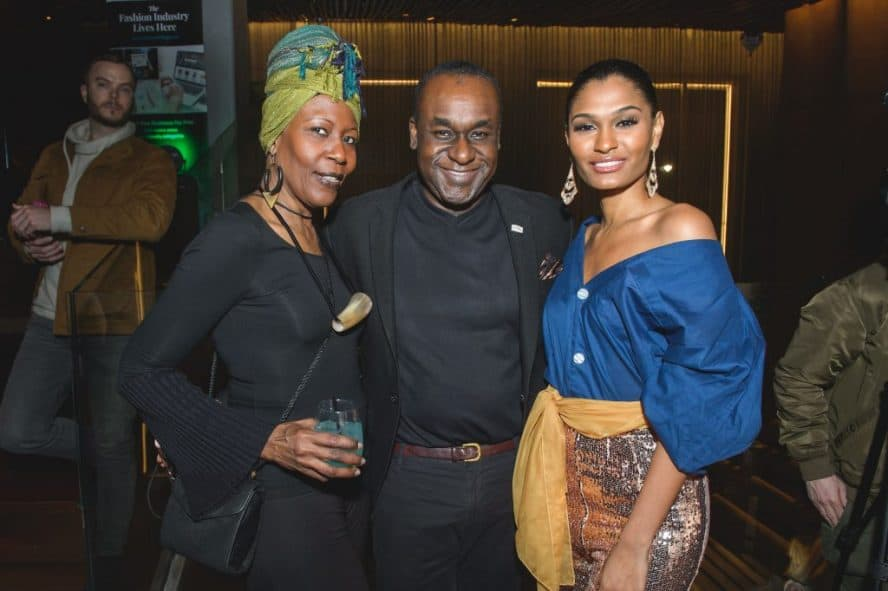 Janice Lawrence-Clarke, Frederick A. Morton, Jr., and ARITA at NYFW Networking Party