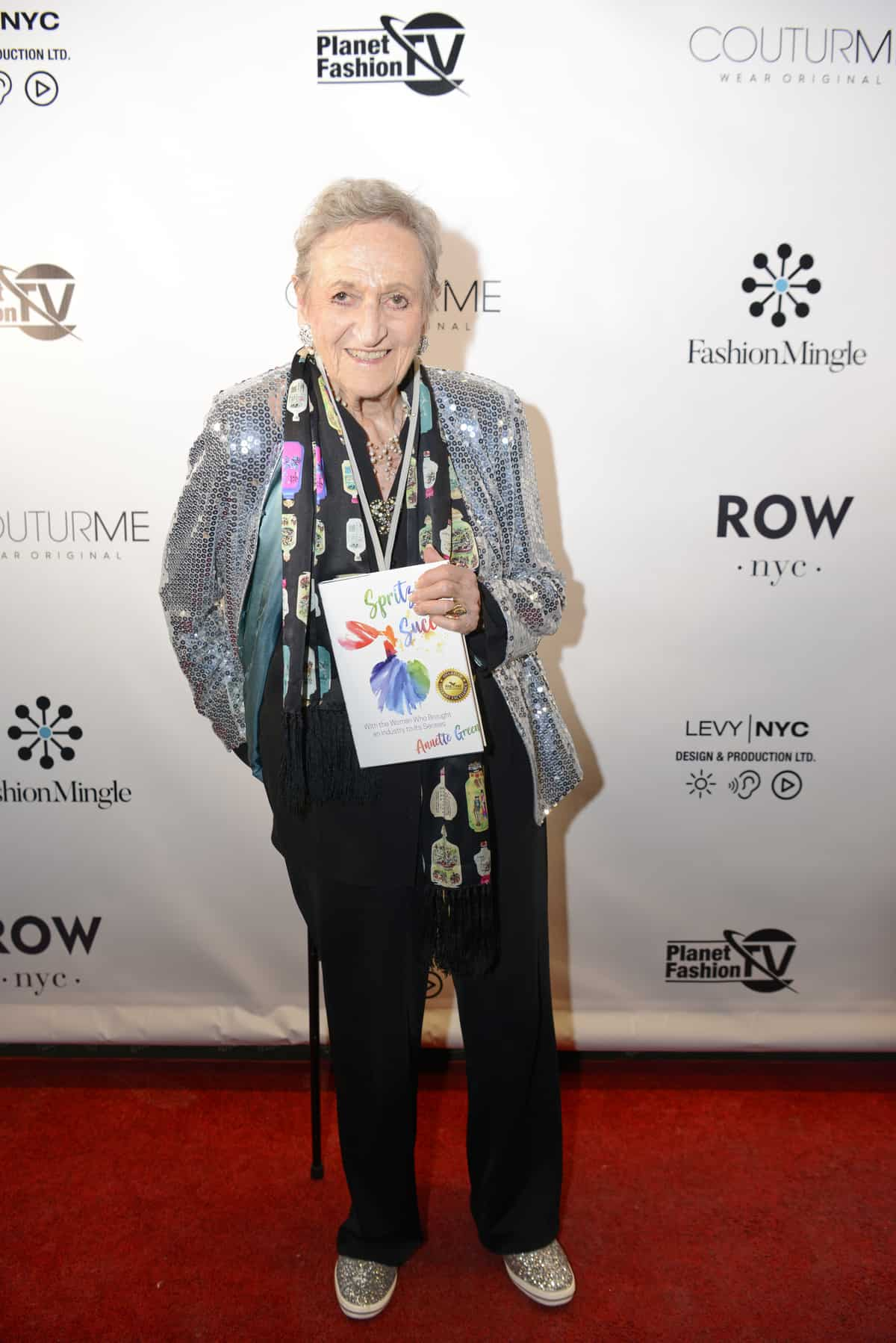 Annette Green, author of Spritzing To Success, on Fashion Mingle's NYFW Red Carpet.