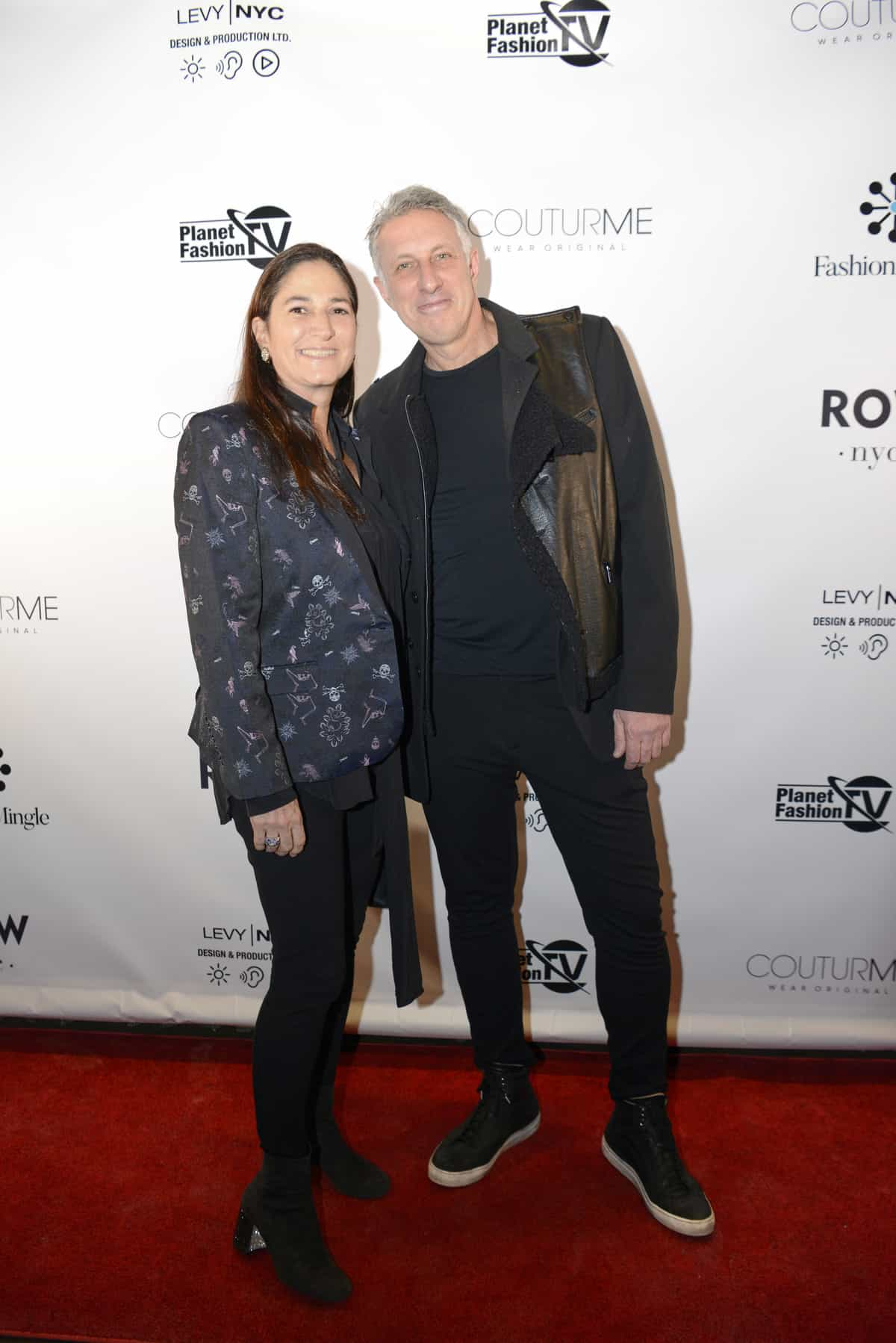 Ira and Helene from Levy NYC on the red carpet of Fashion Mingle's NYFW networking party.