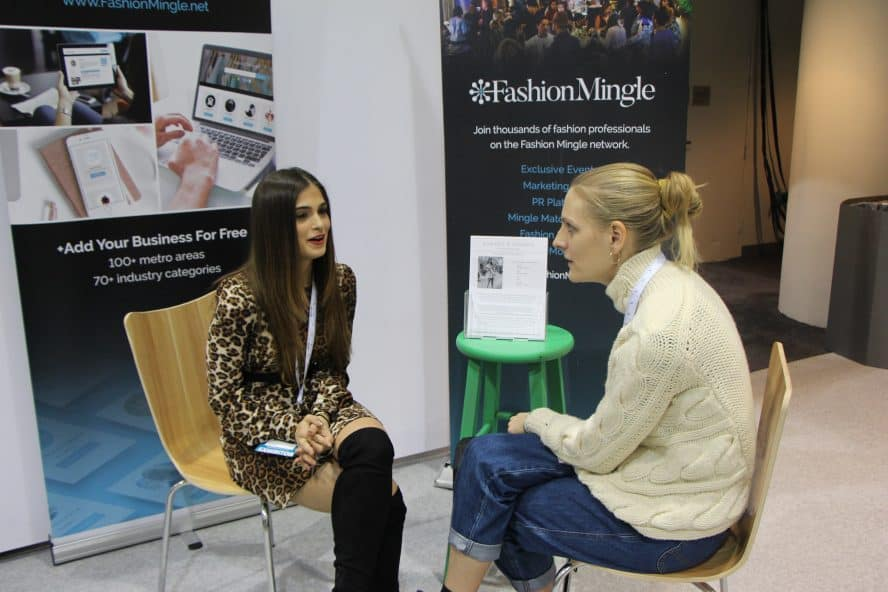 Batsheva Weinstein of Sunnies & Sangria during a mingle mentor session at Texworld 2019.