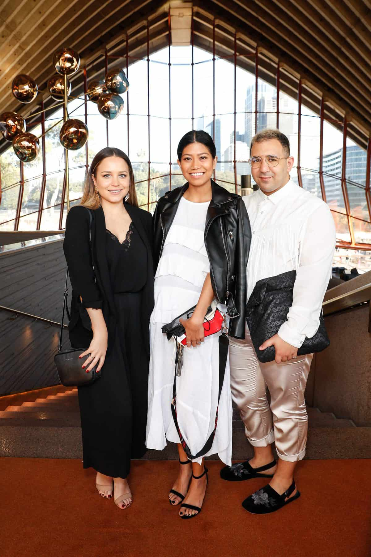 Ali Beeck, Venus Landero and Michelle Simmonds attend the Fashion Mingle Australia VIP Luncheon at Bennelong Restaurant Sydney Opera House on May 14, 2019 in Sydney, Australia. (Photo by Hanna Lassen/Getty Images for Fashion Mingle)