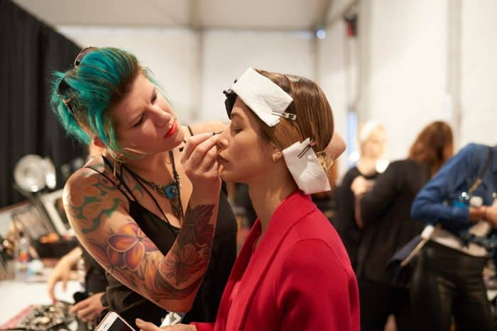 Become a makeup artist at NYFW. Photo by Patrick Hovan.