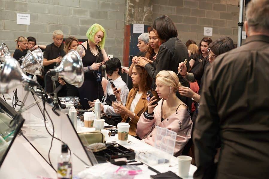 Get a job at NYFW by helping out backstage. Photo by Patrick Hovan.