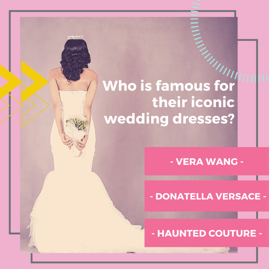 fashion history: iconic wedding dress designer